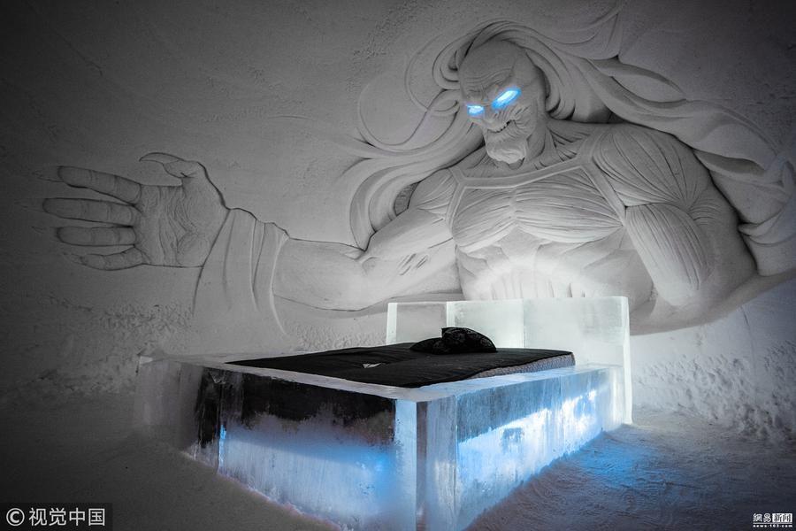 《权力的游戏》冰雪酒店开业 每晚1300元