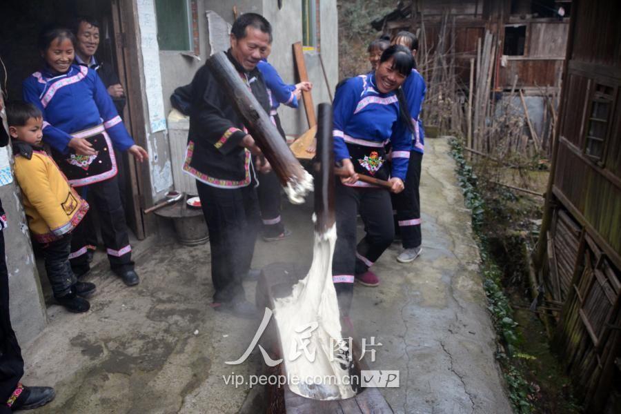 贵州锦屏:打糍粑过侗年
