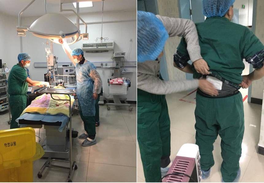四川高原手术室:医生贴暖宝宝做手术