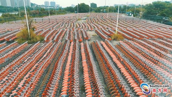 2万辆自行车停大学城
