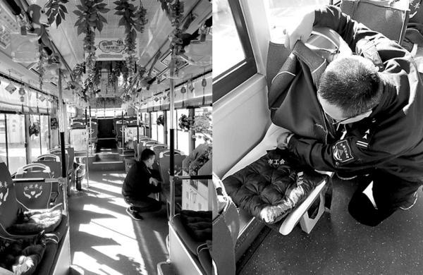 长春公交安装暖心坐垫频丢,有的车队刚装上1小时就丢了6个