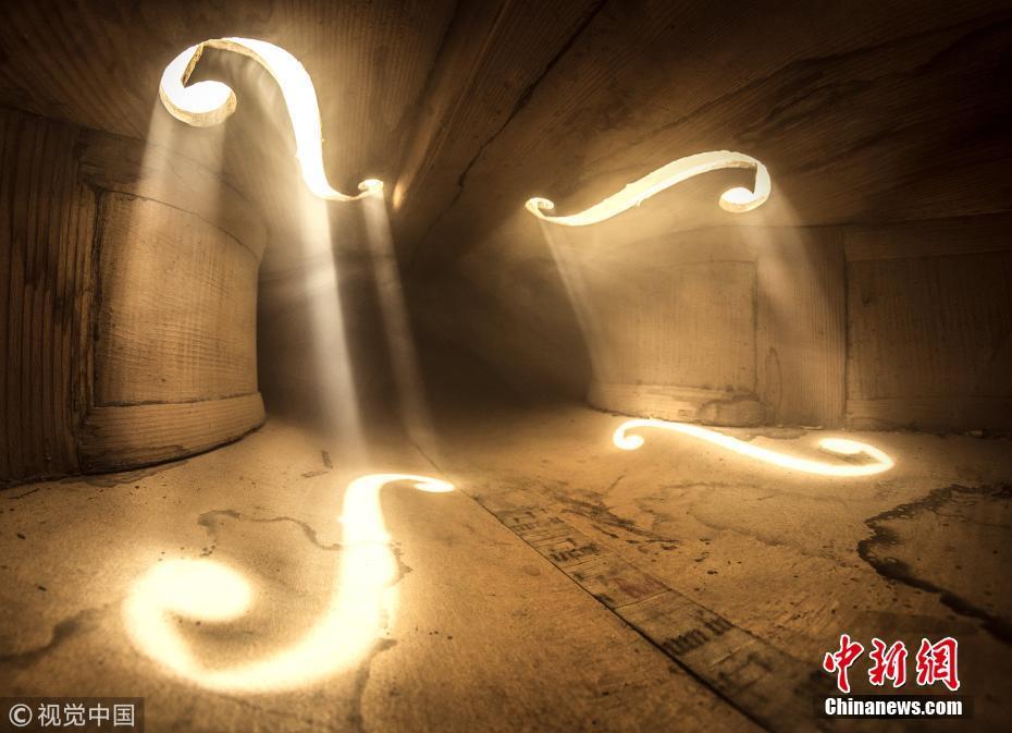 探秘乐器内部世界 迷人光影宏伟壮观
