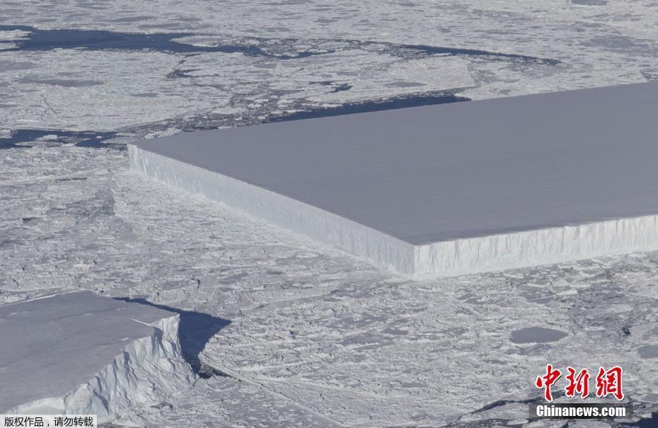 NASA在南极发现巨型冰山 棱角分明如矩形桌