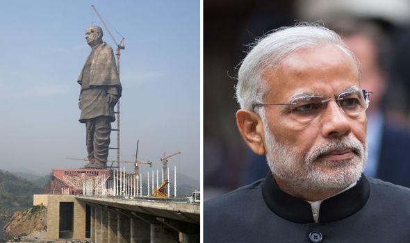 印度182米全球最高雕像亮相