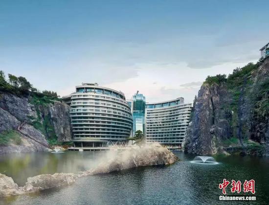 世界唯一深坑酒店开业