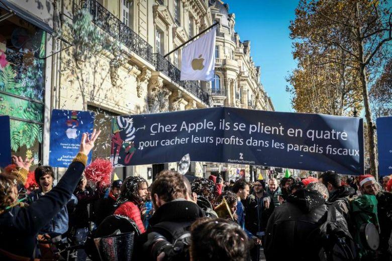 苹果在巴黎开店被抗议