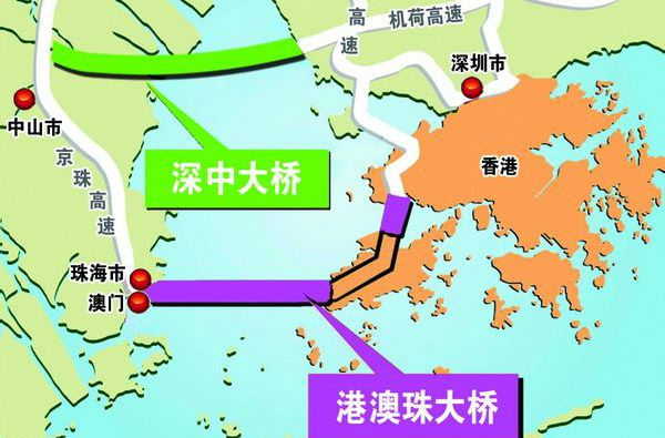 深中通道与广深沿江高速互联互通将在海中实现