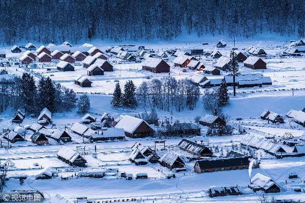 全球雪景处处堪比仙境