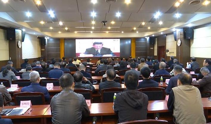 市领导在江门集中收看庆祝改革开放40周年大会