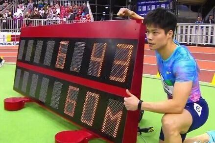 6秒43!4天两破亚洲纪录!苏炳添60米成史上第五快