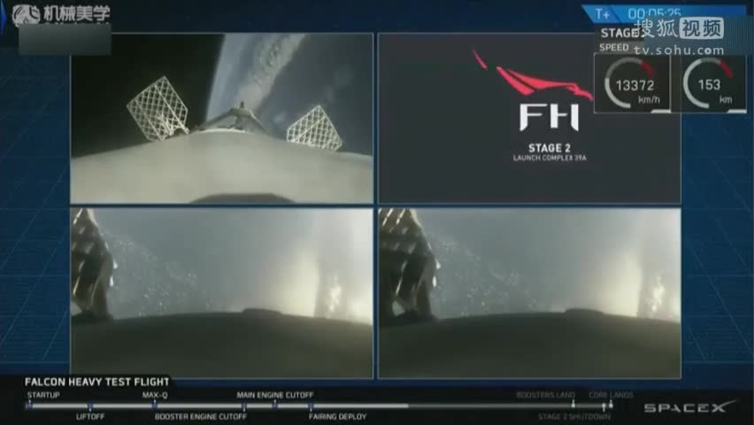 SpaceX猎鹰重型运载火箭成功