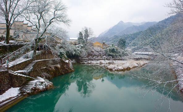 现实版的富春山居图,一夜大雪让桐庐的这座小村子美的宛如仙境!