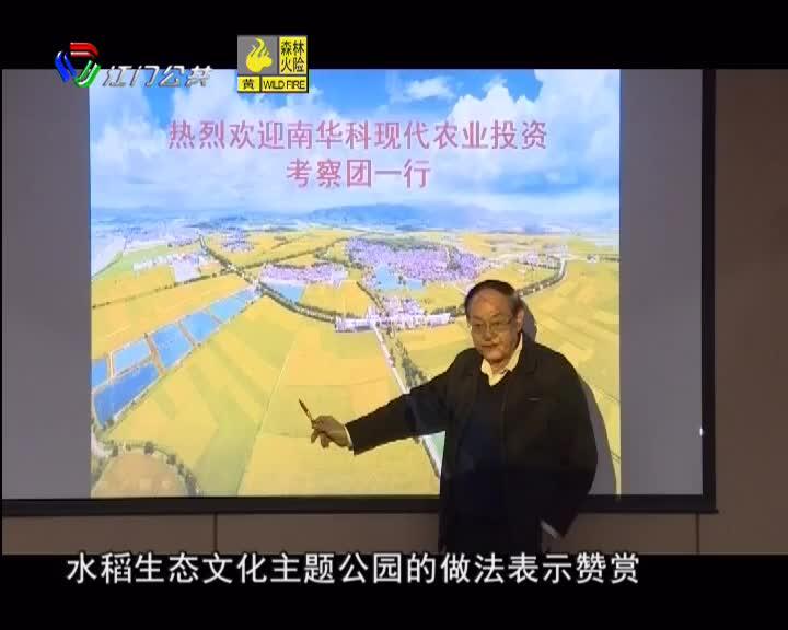 中国工程院院士罗锡文把脉台山现代农业
