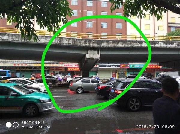 惠州鹅岭立交一桥墩出现下陷,交警已封闭道路