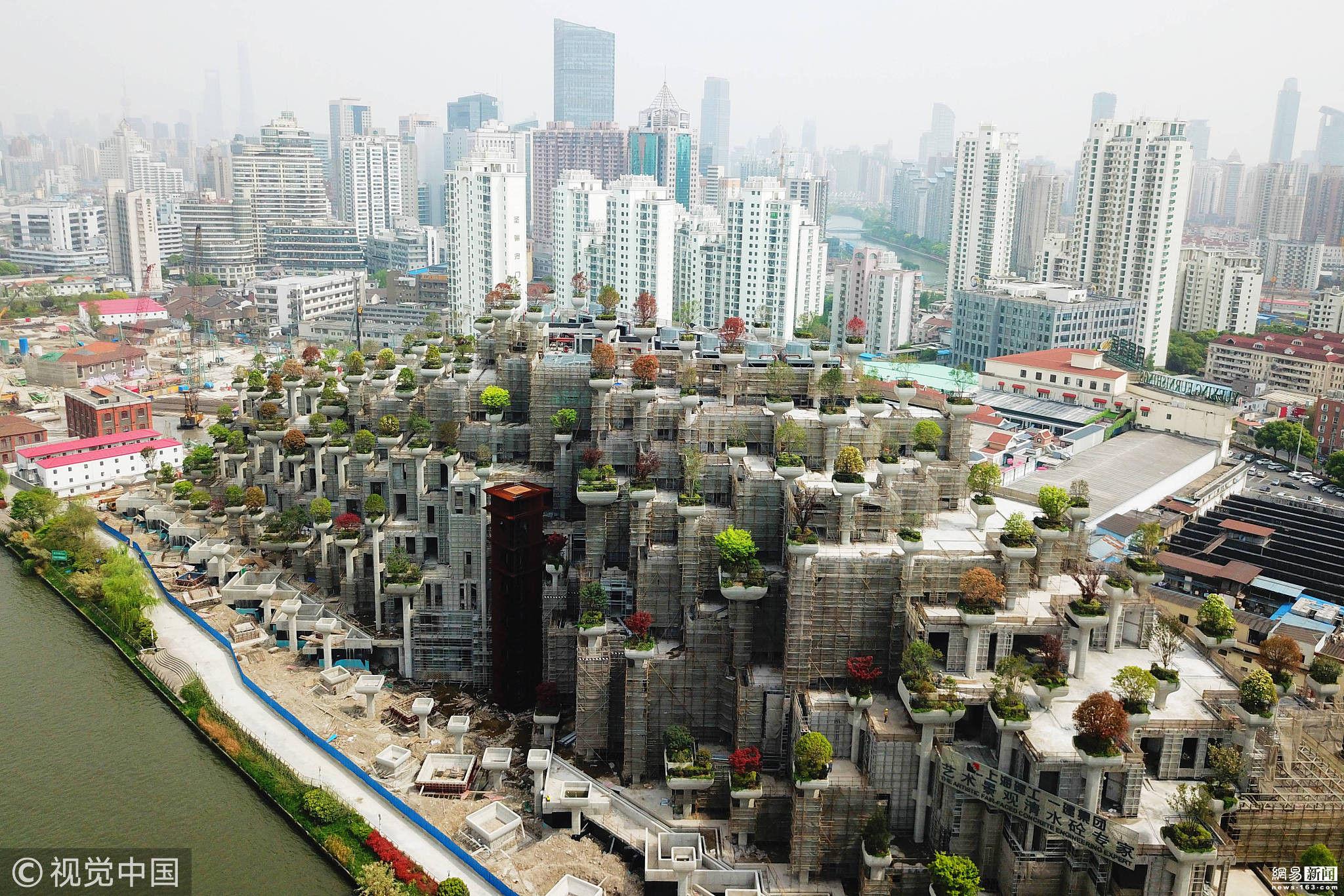 """上海现""""古巴比伦空中花园"""" 如时光穿梭"""