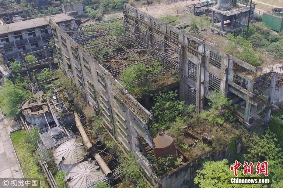 航拍汶川地震遗址