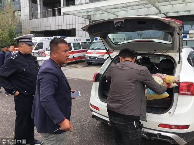榆林男子车祸中左腿被撞断 交警飞奔护送断肢