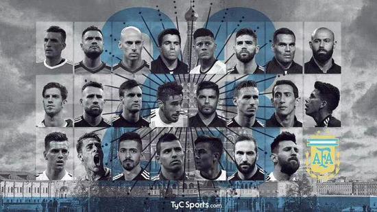 阿根廷世界杯23人:梅西伊瓜因 33场29球金靴落选!