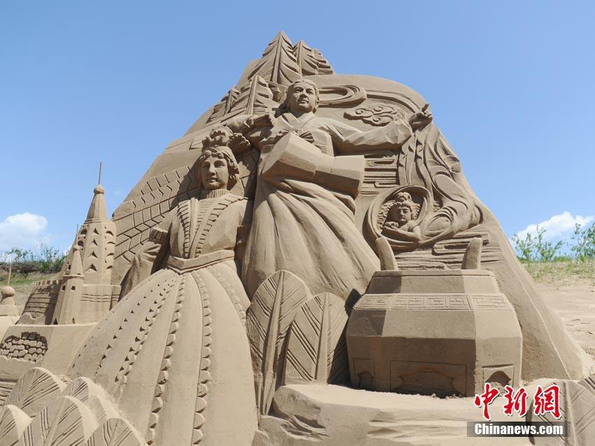吉林沙雕展现三国文化