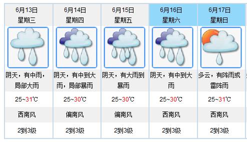 """""""龙舟水""""来了!今起三天我省有大雨到暴雨"""