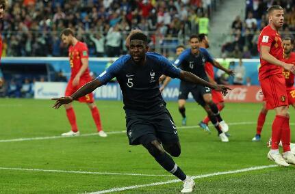 法国1-0比利时 乌姆蒂蒂一击制胜