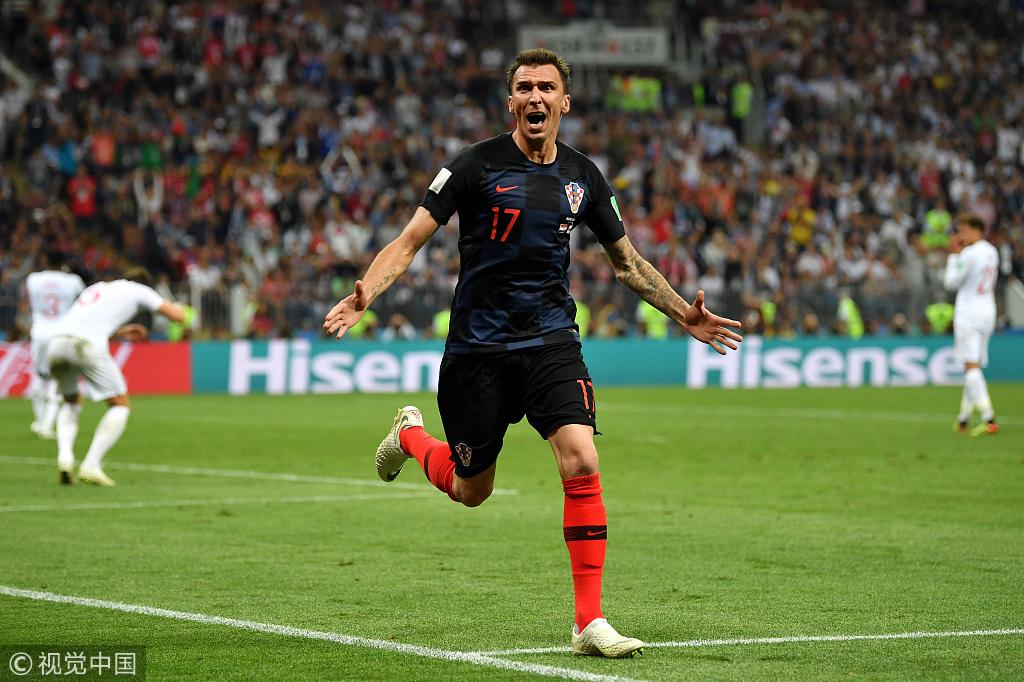 曼朱加时绝杀!克罗地亚2-1逆转英格兰首次杀进决赛