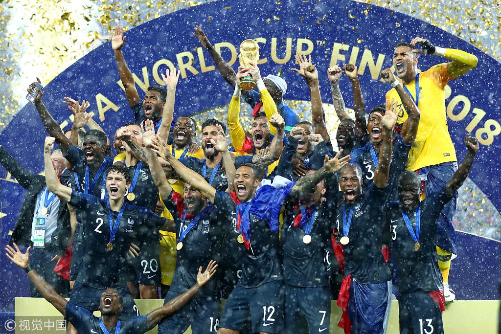 格子波霸姆巴佩破门 法国4-2克罗地亚再夺世界杯!