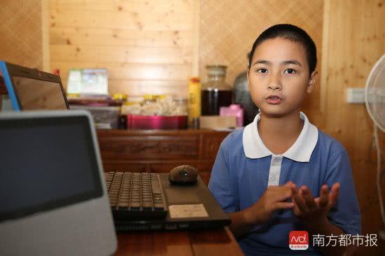 中山12岁编程少年开发出3个游戏程序,梦想当乔布斯