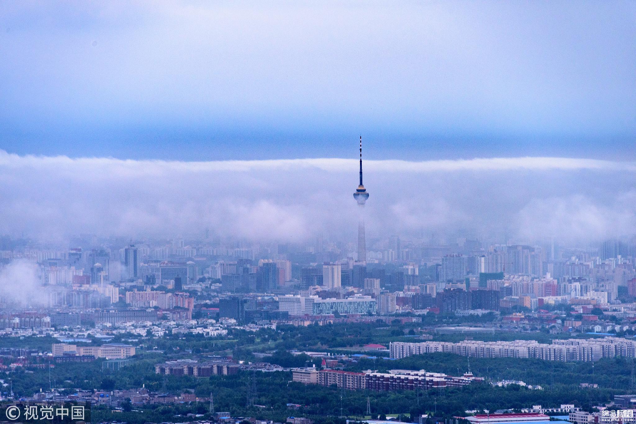 北京西山惊现壮观云海