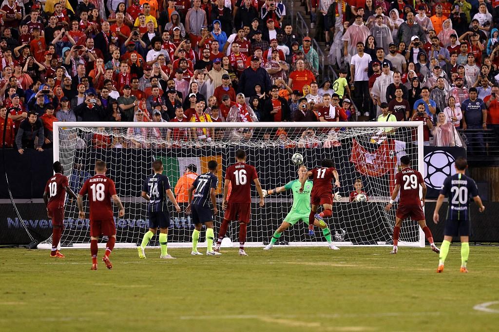国际冠军杯-萨拉赫争议球马内绝杀 利物浦2-1曼城