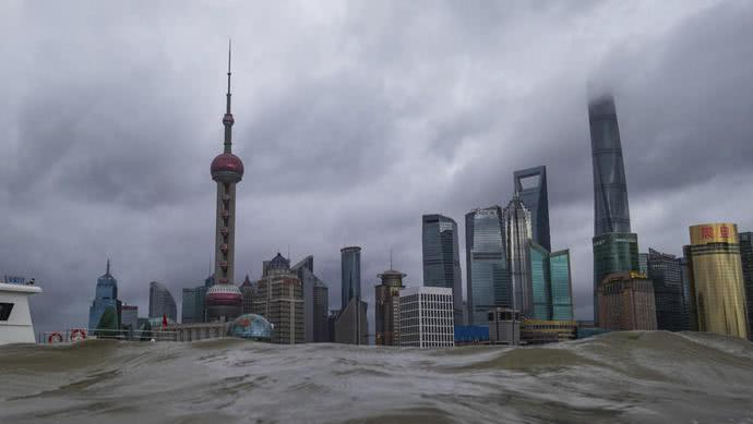 """""""温比亚""""在上海浦东新区登陆 一月内已有三个台风登陆上海"""