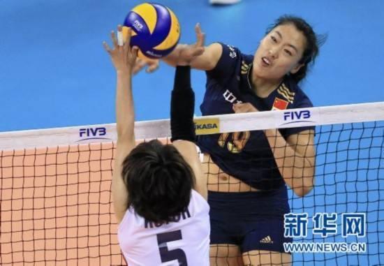 亚洲杯中国女排3-0获两连胜 刘晏含22分全场最高