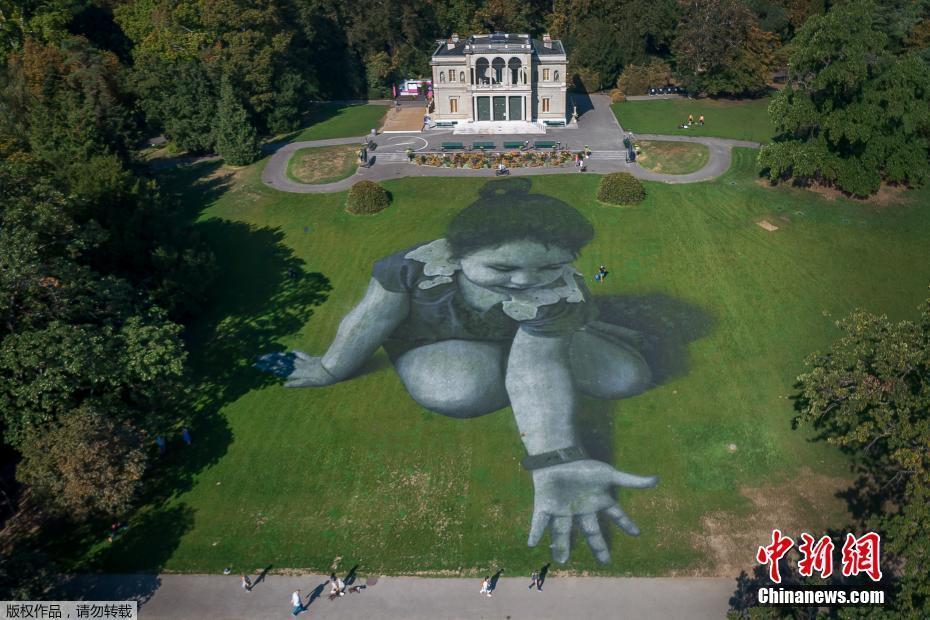 日内瓦现巨型地景画