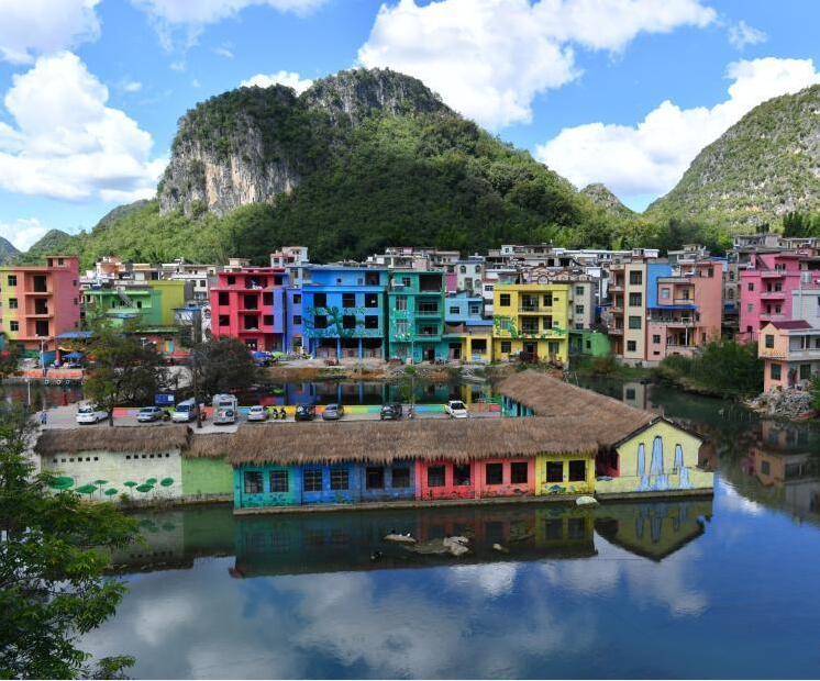 云南彩绘村独特风景