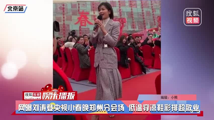 网曝刘涛登央视小春晚郑州分会场