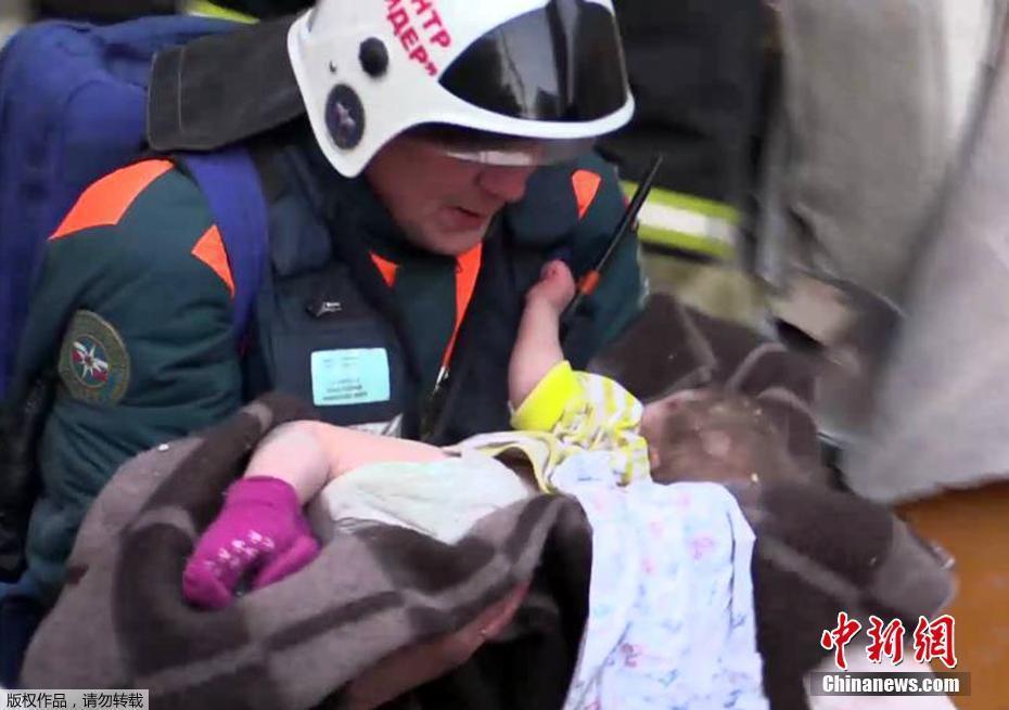 俄罗斯居民楼爆炸事故 11月大男婴被埋35小时后获救