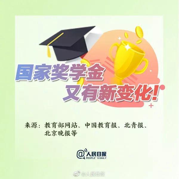 本专科生国家奖学金评审办法新规:须有中国国籍