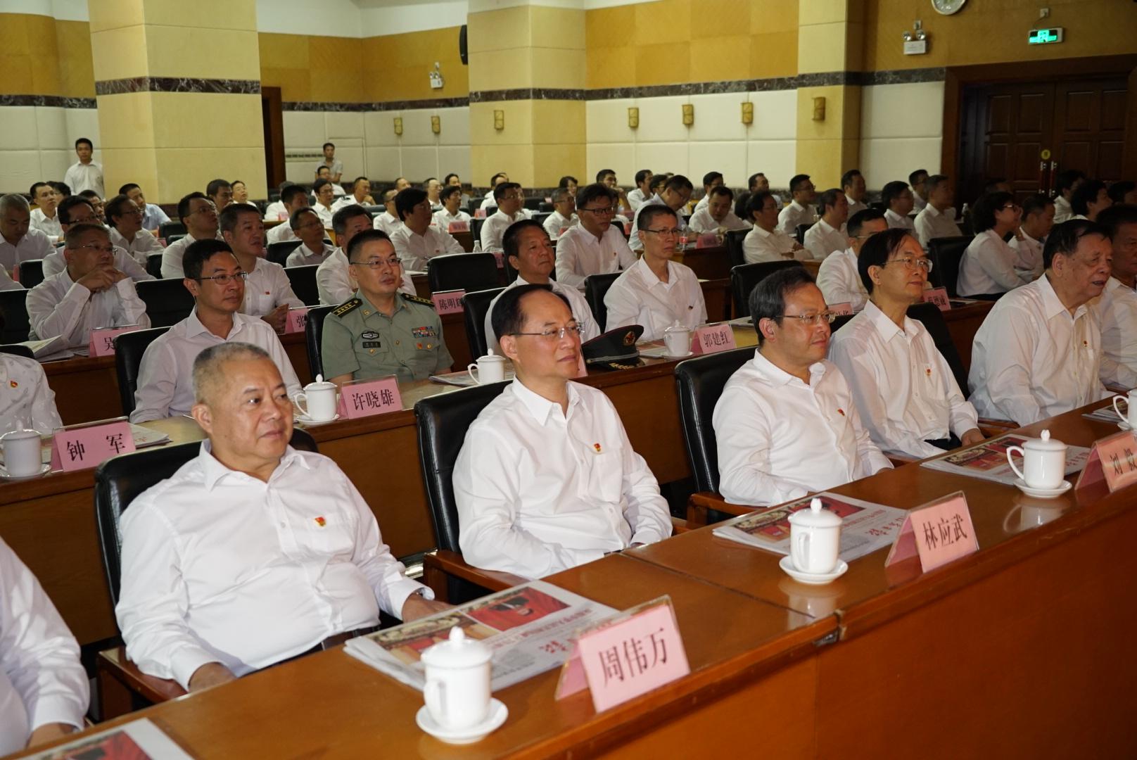 江門市干部群眾收聽收看慶祝中華人民共和國成立70周年大會直播盛況