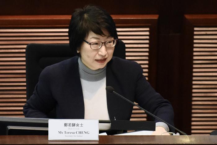香港律政司司長遇襲受傷