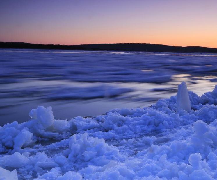 黑龍江進入冬季流冰期