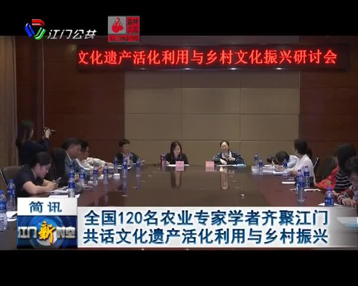 全国120名农业专家学者齐聚江门 共话文化遗产活化利用与乡村振兴