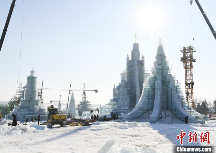 長春趕工打造冰雪世界