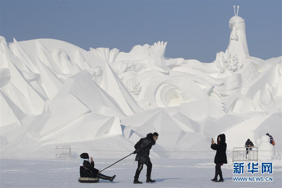 哈尔滨太阳岛雪博会开园迎客