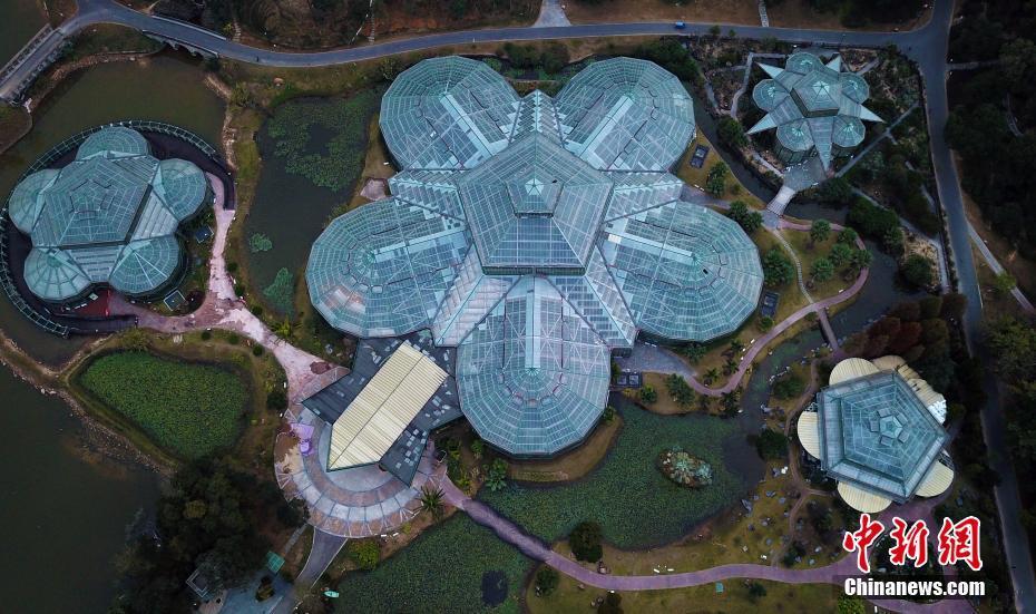 """航拍中科院華南植物園 酷似""""外星人基地"""""""