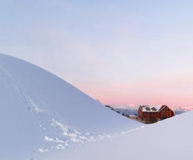 祁连山滑雪场冬日景如画