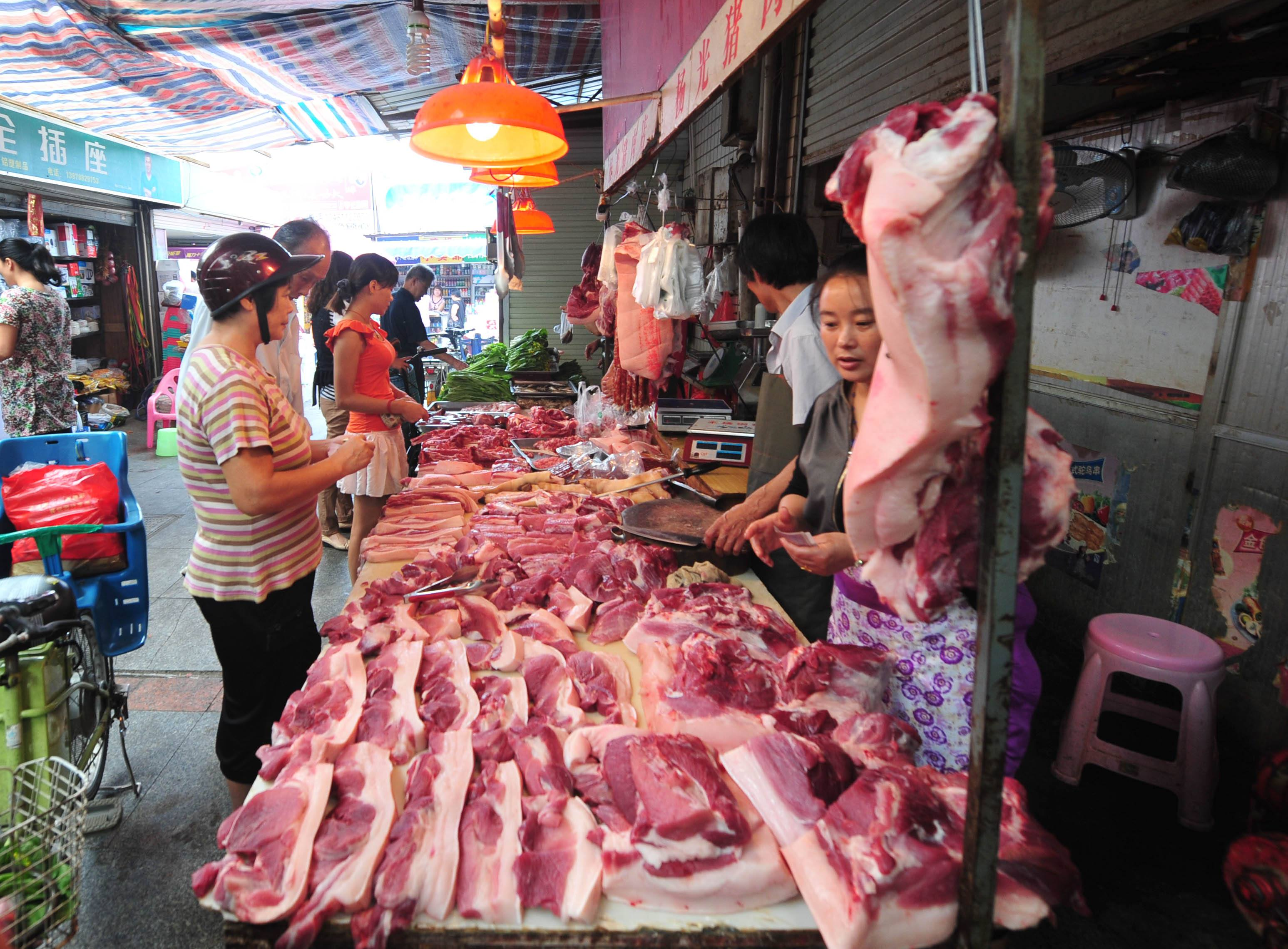 猪肉价格四周跌了两成