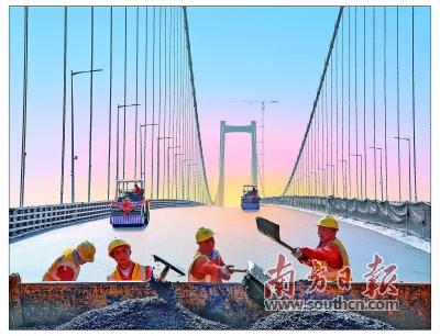虎门二桥、深中通道等大湾区交通基础设施建设热火朝天
