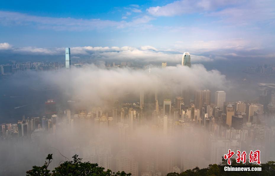 香港维港宛如人间仙境