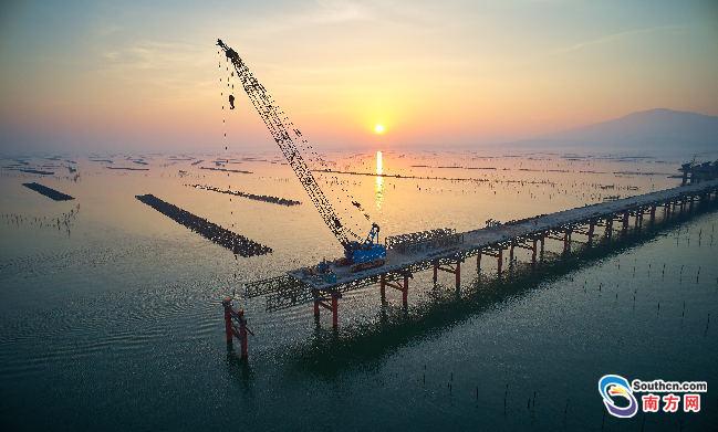 海陵岛特大桥主桥右幅成功合龙,预计2020年通车