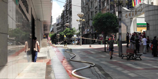 四川大厦内氢气瓶爆炸